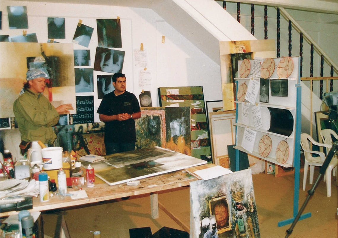 Ahmed's studio, Al Miftaha Arts Village
